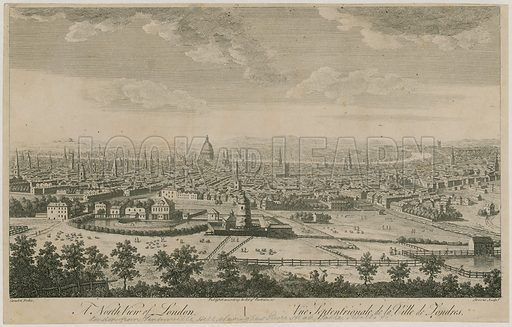 A north view of London. From Pentonville Hill.