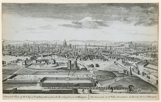 A general view of London taken from the bowling green at Islington.