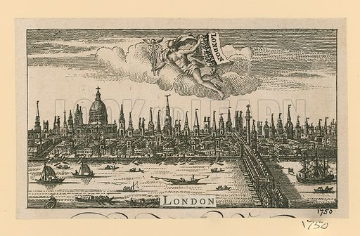 View of London. Published 1750.