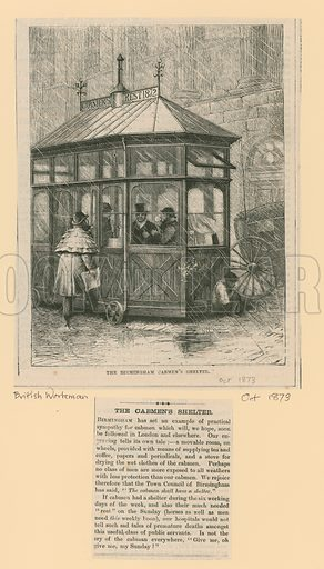 The Birmingham Cabmen's Shelter. From the British Workman, October 1873.