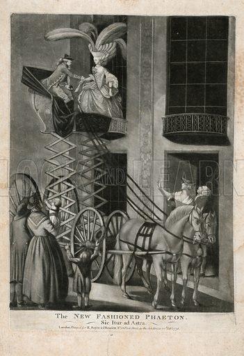 The new fashioned Phaeton. Published 1776.