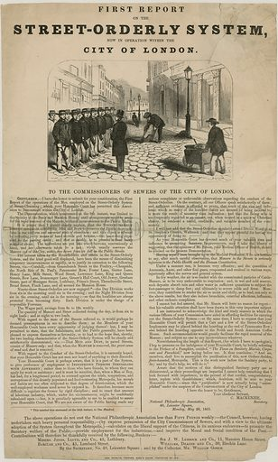 First report on the Street Orderly System in the City of London. Published 1851.
