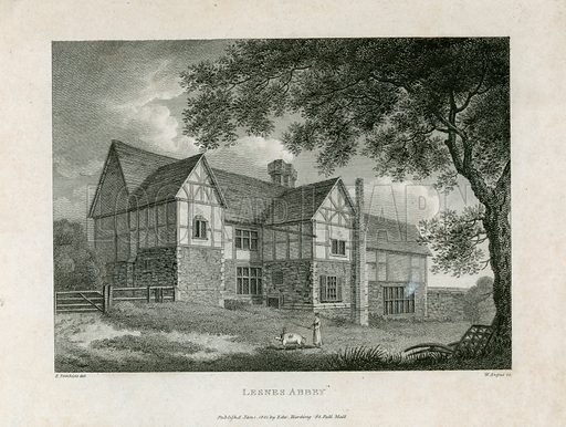 Lesnes Abbey in Kent. Published 1801.