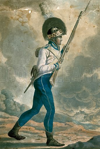 Private of the First Battallion Company, 11th Regiment of Loyal London Volunteers, 1804.