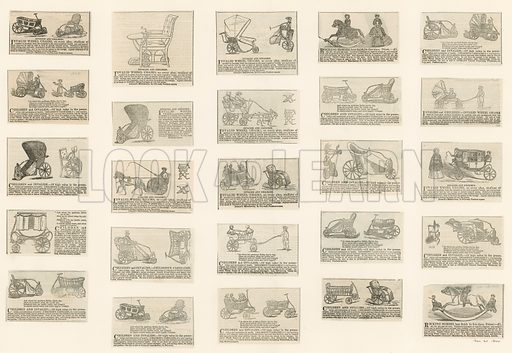 Chairs for invalids and children. Advertisements. All from the Illustrated London News, 1843, with the exception of the last, 20 January 1844.
