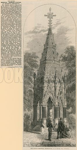 The Buxton Memorial Drinking Fountain, St Margaret's Westminster. From the Illustrated Times, 3 February 1866.