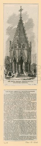 The Buxton Memorial Drinking Fountain, St Margaret's Westminster. From the Illustrated London News, 10 March 1866.