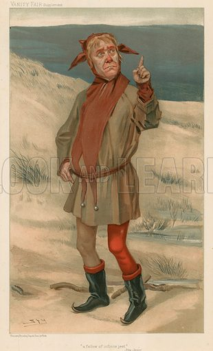 Arthur Brough, A fellow of infinite jest, Vanity Fair cartoon, 30 March 1905.