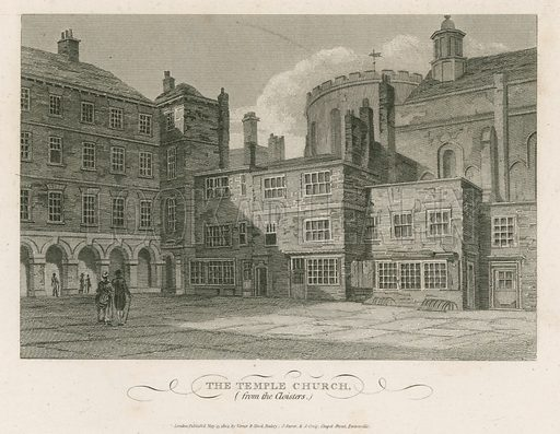 The Temple Church. Published 1804.