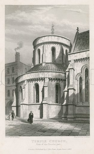 The Temple Church. Published 1837.