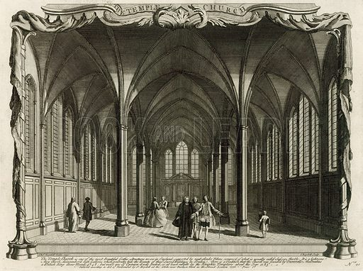 The Temple Church. Published 1750.
