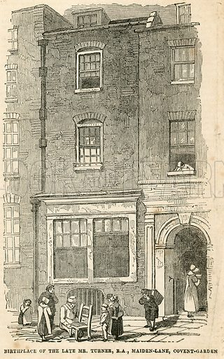 Birthplace of JMW Turner in Maiden Lane.