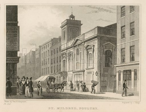 St Mildred's Poultry.  Published 1812.