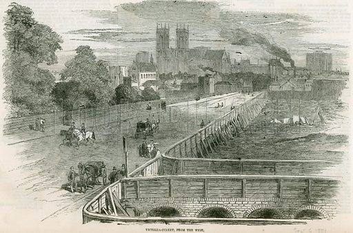 Victoria Street, from the West. From the Illustrated London News, 6 September 1851.