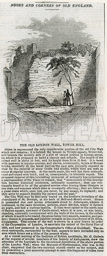 London Wall – Tower Hill. From the Illustrated London News, 1843.
