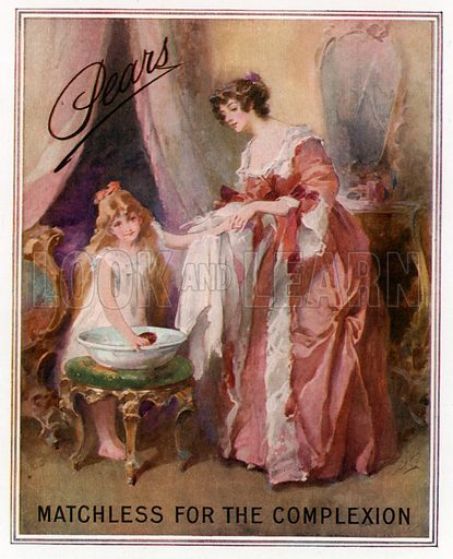 Pears soap advertisement. Matchless for the complexion.