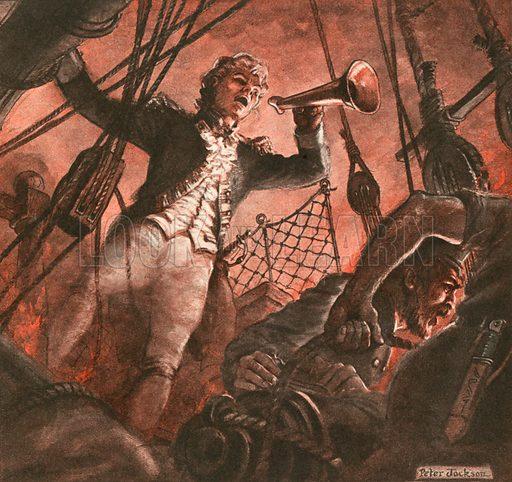 John Paul Jones, founder of the American navy.