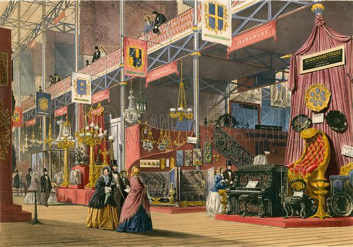 Hardware, The Great Exhibition of 1851. From Dickenson's Comprehensive Pictures. Large original.