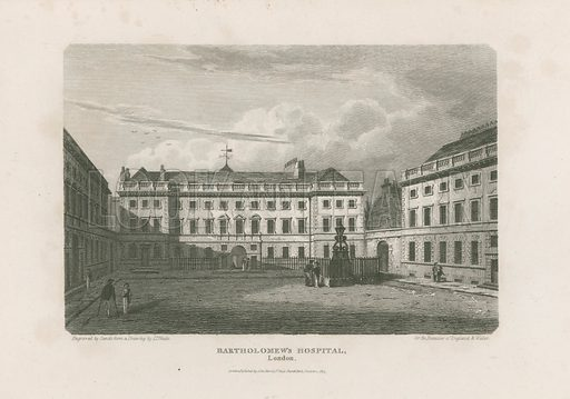 St Bartholomew's Hospital, Smithfield.  Published 1815.