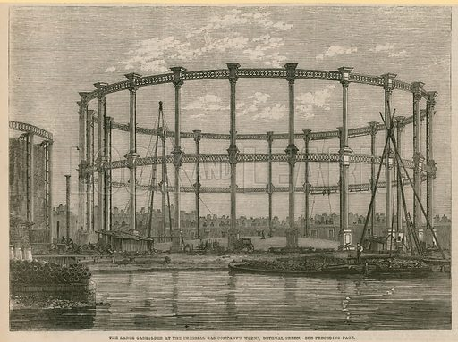 The large gasholder at the Imperial Gas Company's works