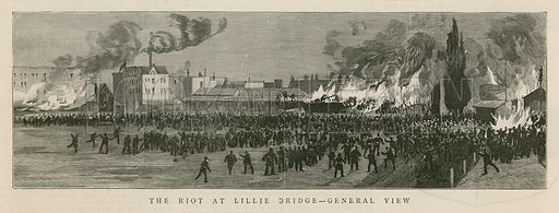 The riot at Lillie Bridge, London
