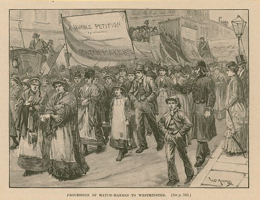Procession of match-makers to Westminster; dated 1892.