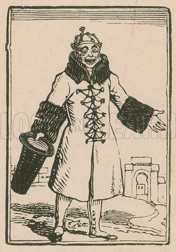 Joseph Grimaldi as Clown singing All the World in Paris, Surrey Theatre, 1814.