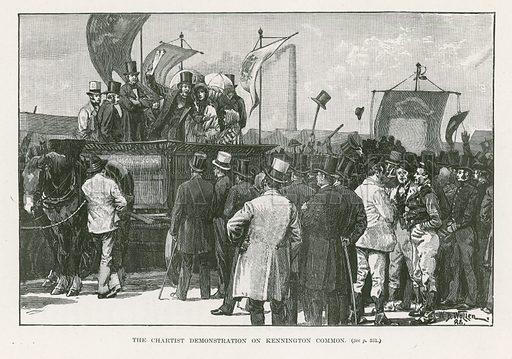 The Chartist demonstration on Kennington Common, London.