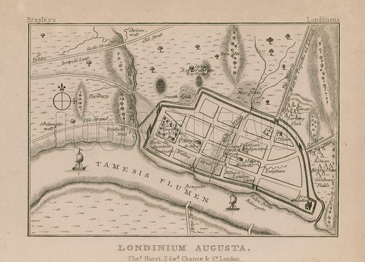 Map of Roman London; Londinium Augusta.