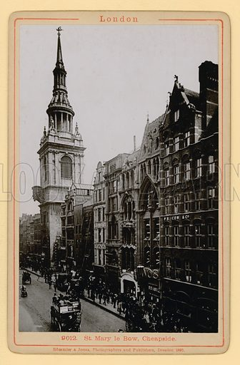 St Mary le Bow, Cheapside, London; photograph.