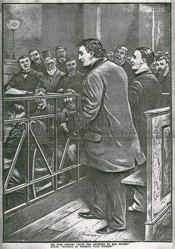 The arrest of Oscar Wilde: Wilde in the dock