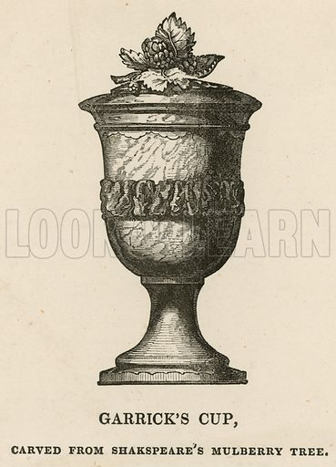 David Garrick's Cup, carved from William Shakespeare's Mulberry Tree, presented to David Garrick by the Mayor and Corporation of Stratford-upon-Avon in September 1769.