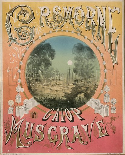 Cremorne Galop by Frank Musgrave, musical score.