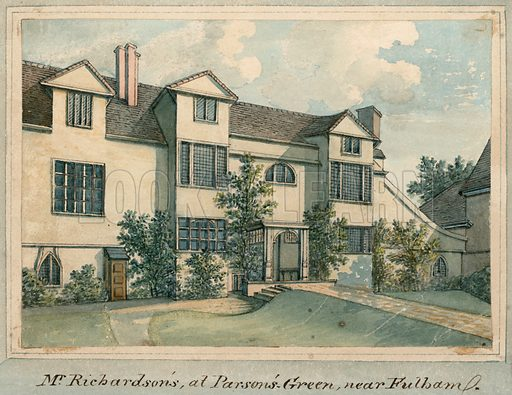 The home of Samuel Richardson at Parson's Green, near Fulham, London.