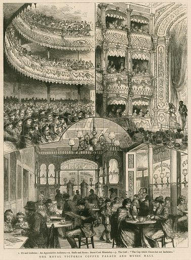 The Royal Victoria Coffee Palace and Music Hall, London - Look and