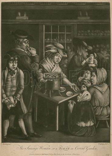 The Sausage Woman; or, a Scene in Covent Garden; published 1 January 1772.