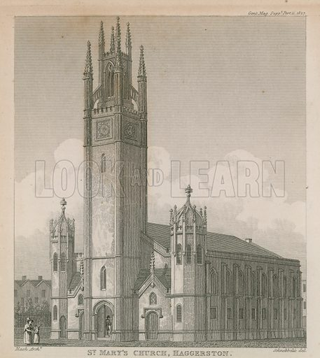 New Church, Haggerston, Hackney, London, also known as St Mary's Church, designed by John Nash, completed in 1827.