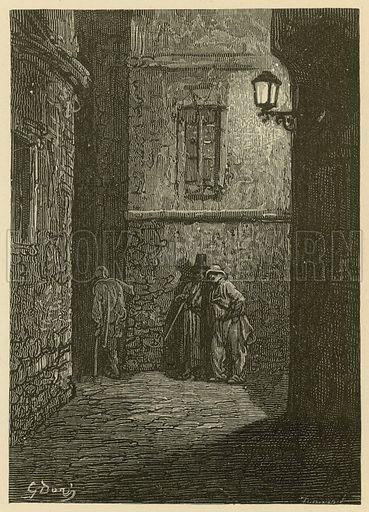 Whitechapel, from an illustration by Gustave Dore.