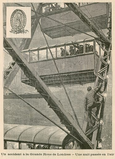 An incident on the Great Wheel in London – a night in the air