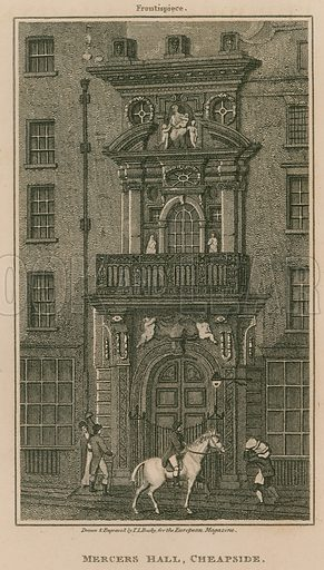 Mercer's Hall, Cheapside, London; published 1 March 1811.