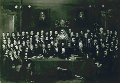 Renton Nicholson, Judge and Jury Society; Garrick's Head and Town Hotel, Bow Street, London.
