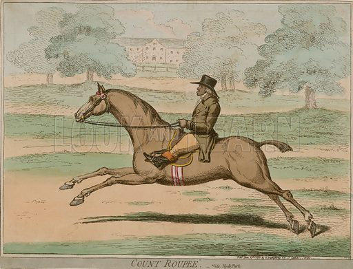 Count Roupee, ridden by Paul Benfield in Hyde Park, London