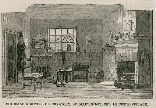 Sir Isaac Newton's Observatory, St Martin's Street, Leicester Square London