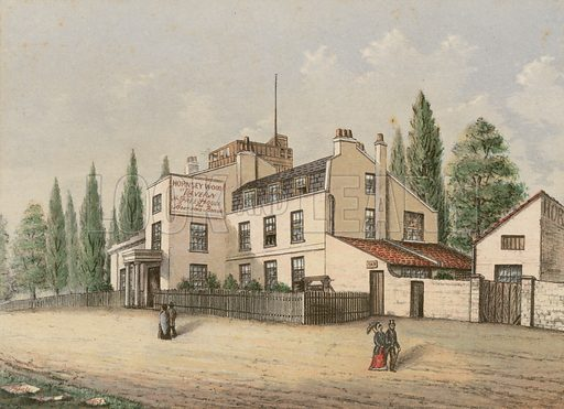 Hornsey Wood House Tavern, London; dated 1863.
