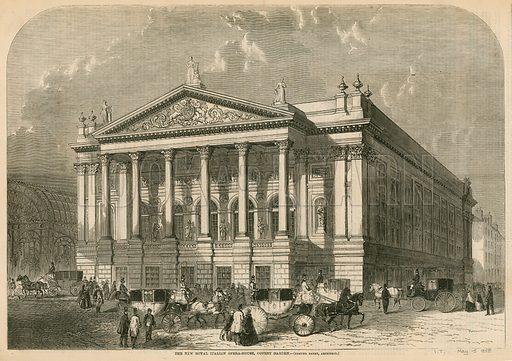 The new Italian Opera House, Covent Garden, London; Edmund Barry, Architect.