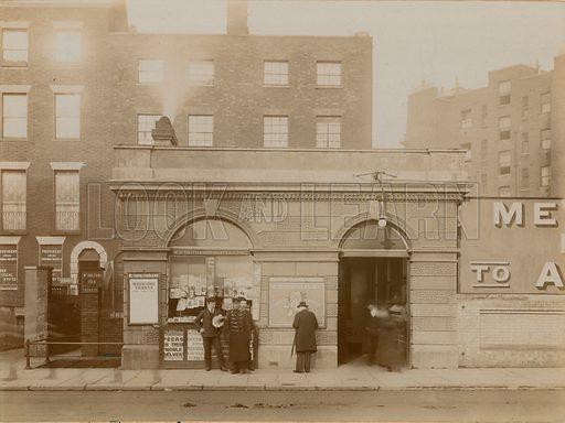 Baker Street Railway Station, east entrance, Marylebone Road, London; photograph taken May 1908