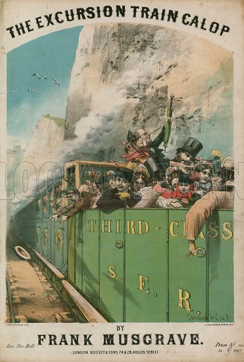 Musical score: The Excursion Train Galop by Frank Musgrave.