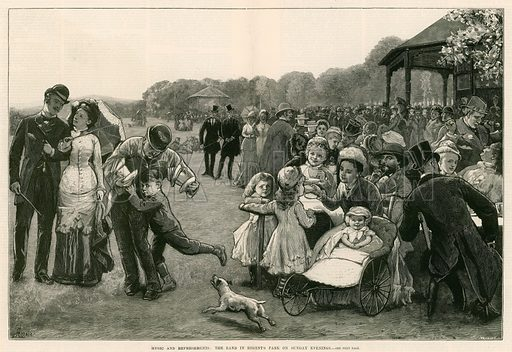 Music and refreshments: The band in Regent's Park, … stock image | Look and  Learn