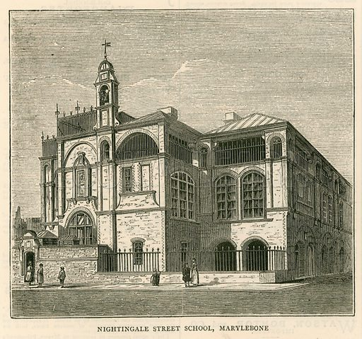 Architecture of the London School Board: Nightingale Street School, Marylebone, London