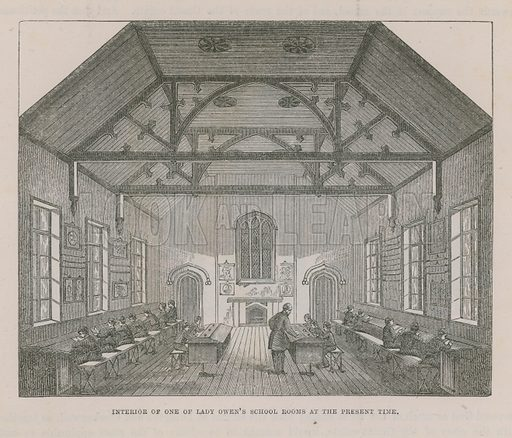 Interior of one of Lady Owen's school rooms at the present time.